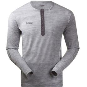 Bergans M's Henley Wool Shirt Grey Melange